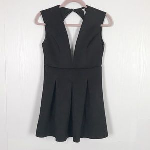 Scuba Open Back Pleated Mini Dress